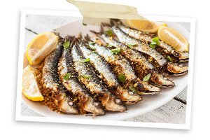 Photo of    Grilled oregano and paprika stuffed sardines