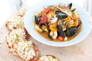 Photo of    Fish Stew with Crab and N'djua Toast